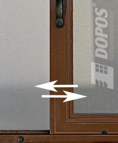 Detail posuvné sítě do oken