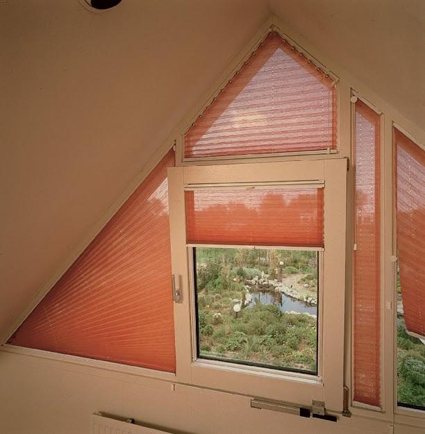 Ukázka plisé jako žaluzie do atypických oken