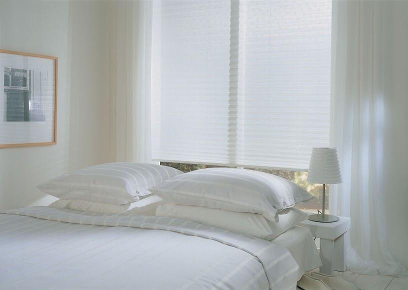 Čistě bílé plisé se hodí do každé místnosti