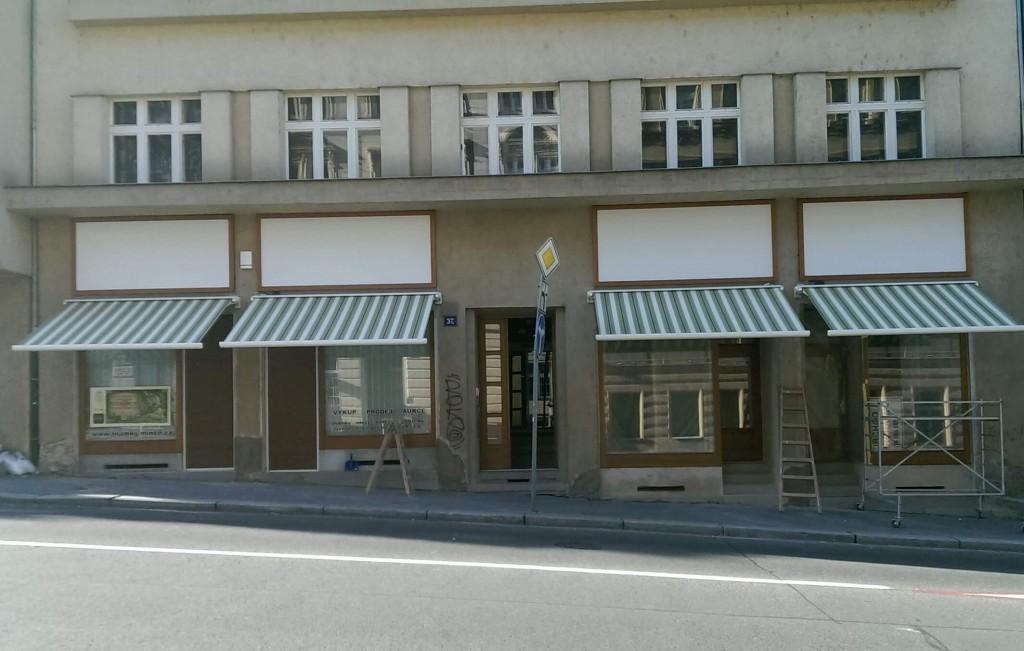 Kazetové markýzy pro obchůdky v Praze