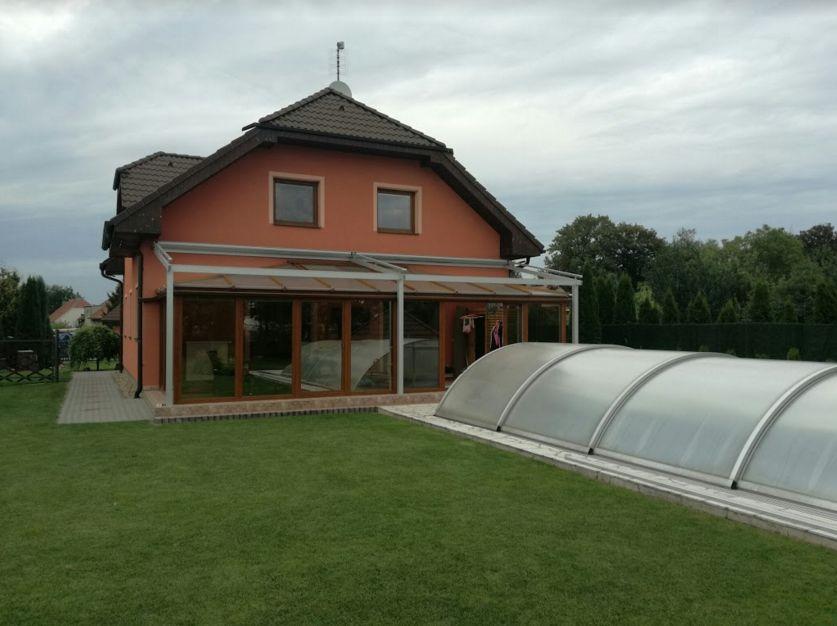 Pohled na zastínění zimní zahrady