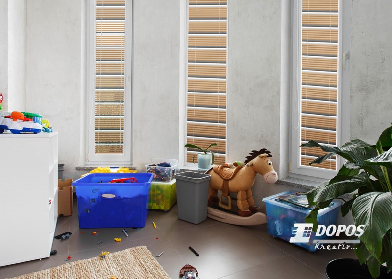 Fotografie vícebarevné horizontální žaluzie v dětském pokoji Kreativ B202