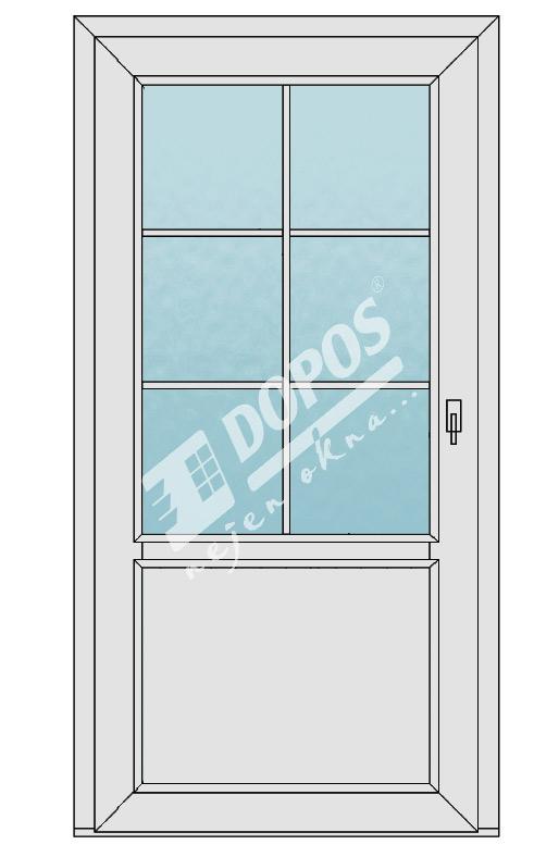 Vchodové dveře model 04