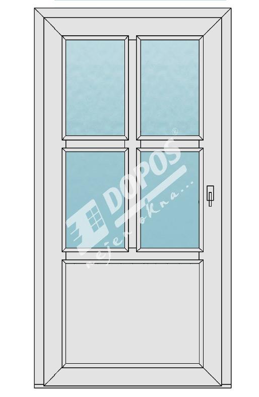 Vchodové dveře model 07