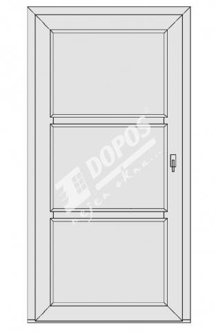 Vchodové dveře model 11
