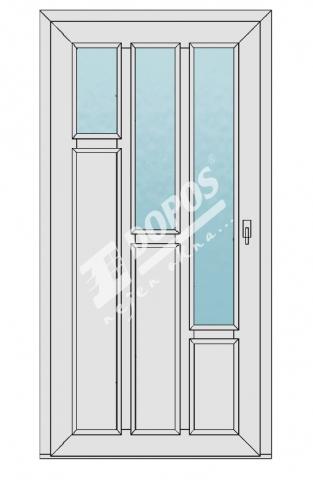 Vchodové dveře Dopos model 27