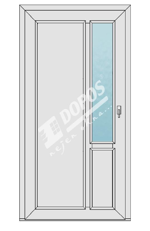 Vchodové dveře Dopos model 33