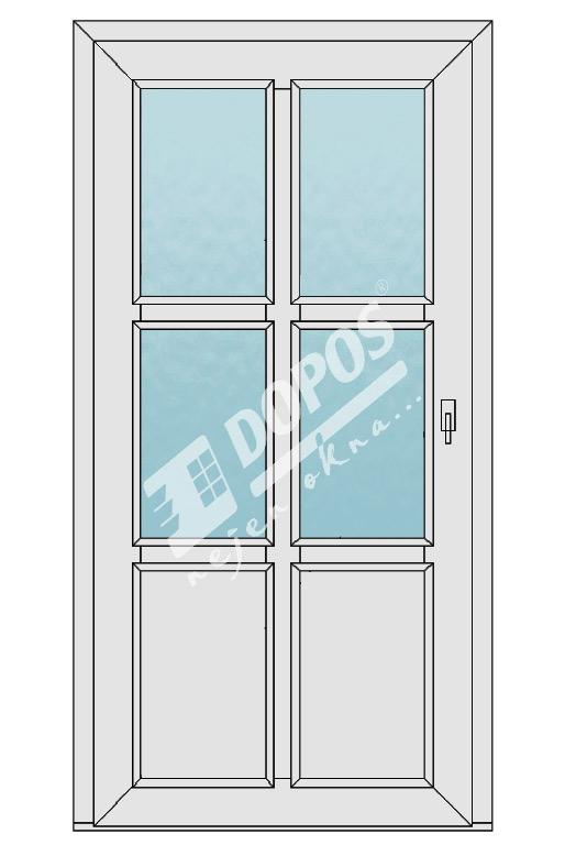 Vchodové dveře Dopos model 43