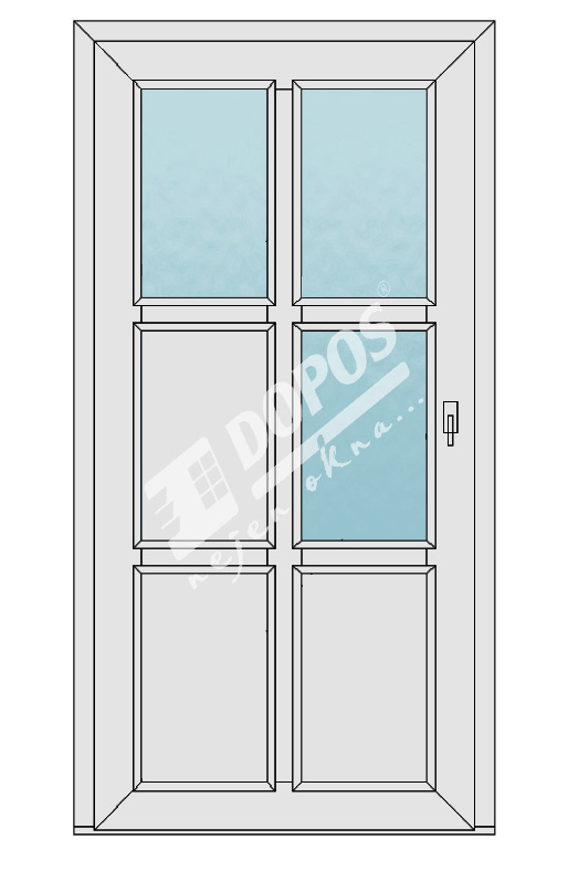 Vchodové dveře Dopos model 44