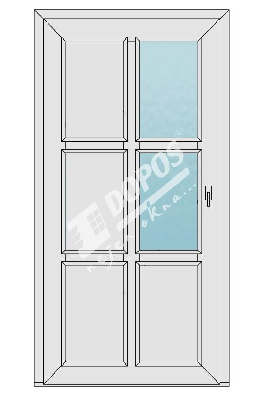 Vchodové dveře Dopos model 46