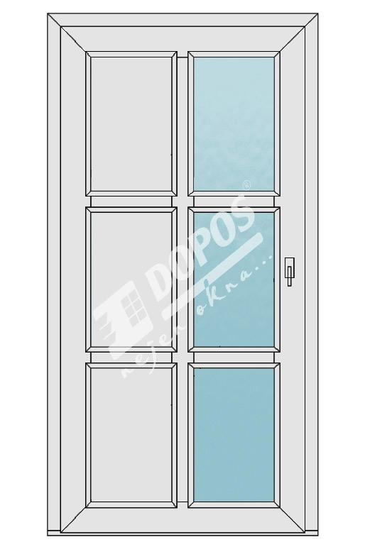 Vchodové dveře Dopos model 47
