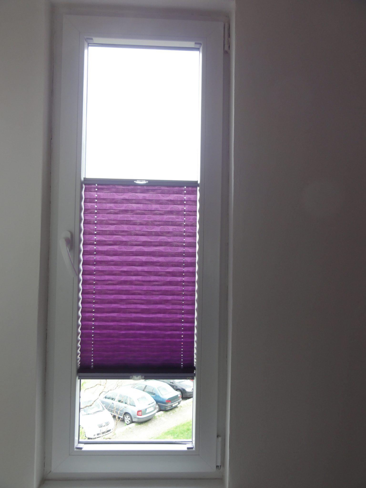 Částečné stínění pomocí plisé na úzkém okně