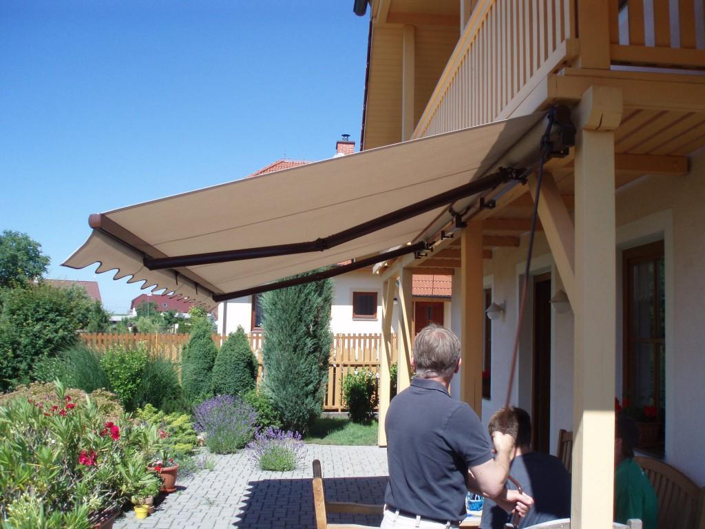 Ručně ovládaná terasová markýza, Sezemice u Pardubic
