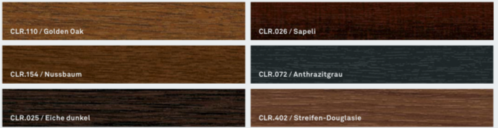 Barvy Inoutic: Klasické odstíny