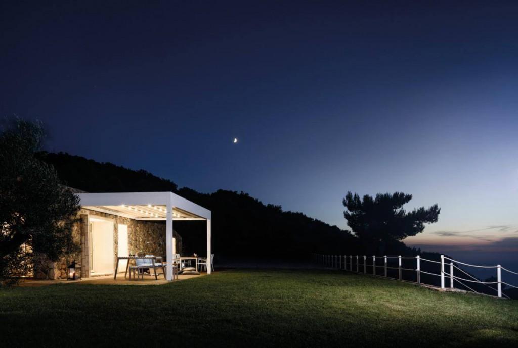Pergola Med Room Maki s integrovaným LED osvětlením