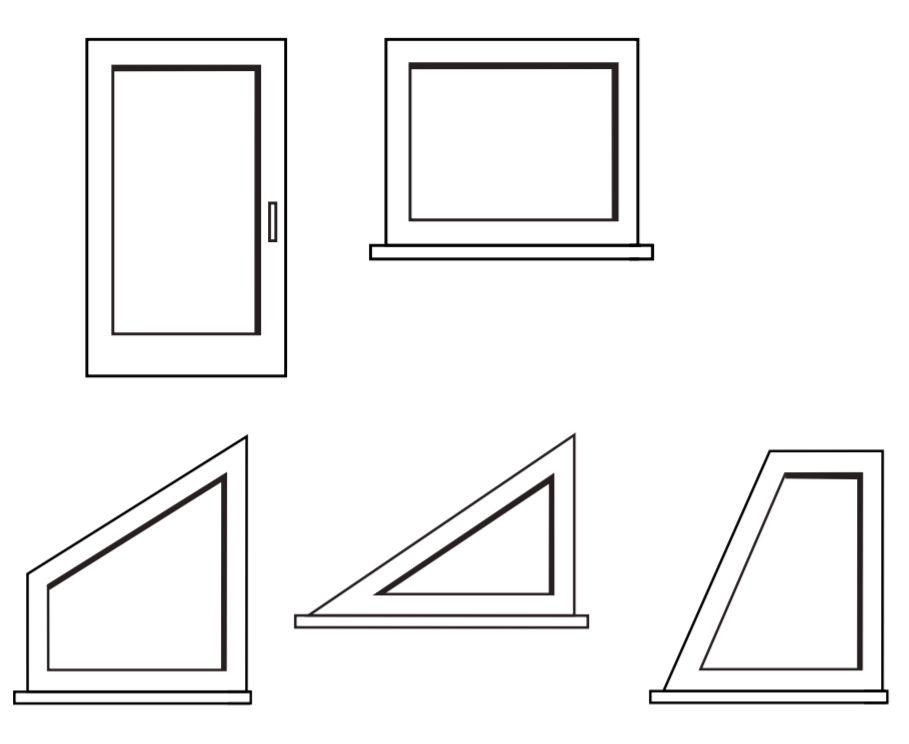 Typy okenních otvorů, do kterých se hodí plisé žaluzie