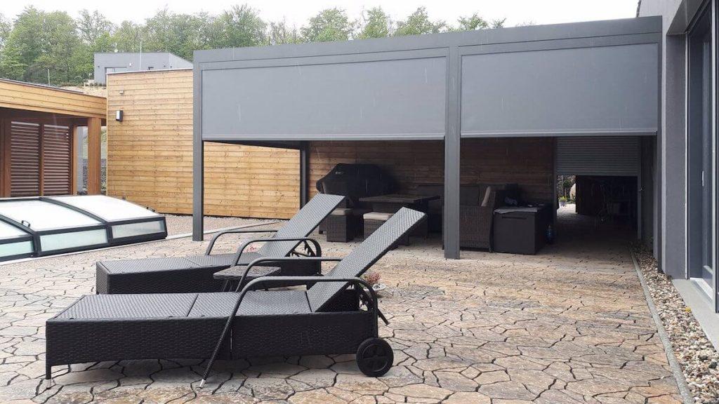 Nedaleko Hradce Králové jsme instalovali dvouzónovou pergolu - má využití v létě i na podzim. podzim.
