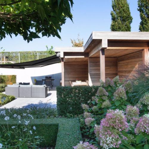 Markýza Olivia je také ideálním doplňkem také zahradnímu altánu